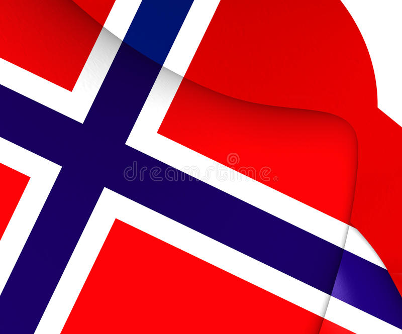 Flag of Norway. Close Up vector illustration