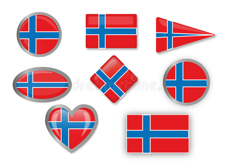 Download Flag of Norway stock vector. Illustration of round, obtuse - 30396187