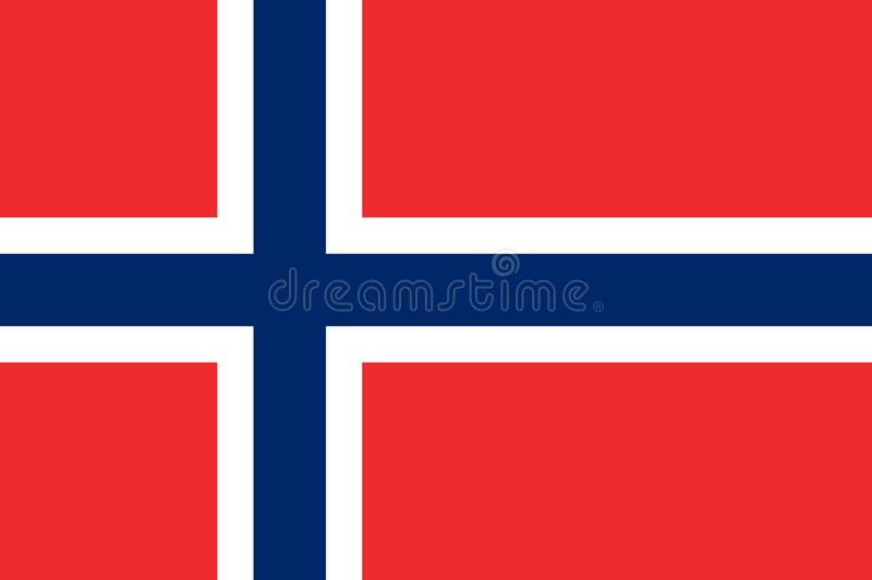 Flag of Norway royalty free illustration
