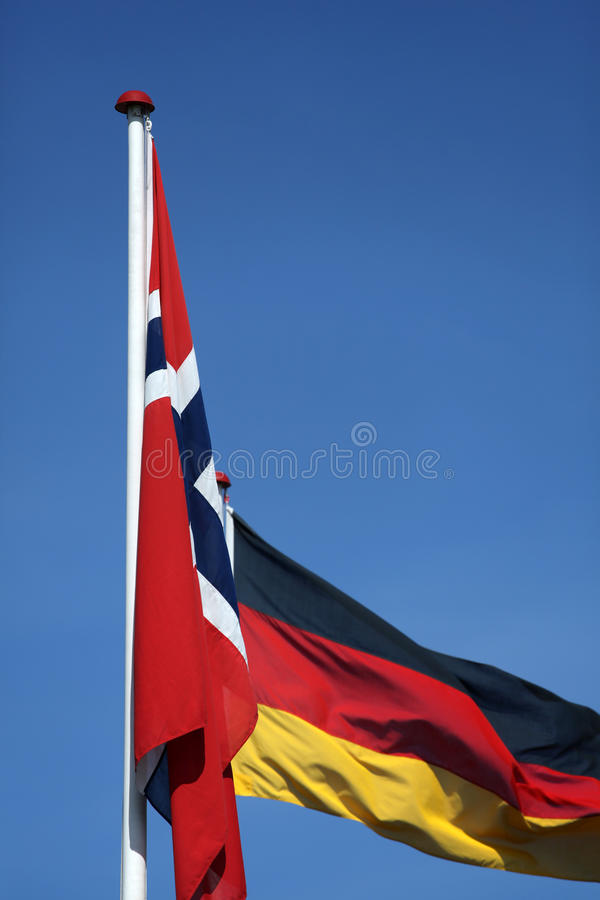 Flag. Norway and Germany royalty free stock photo