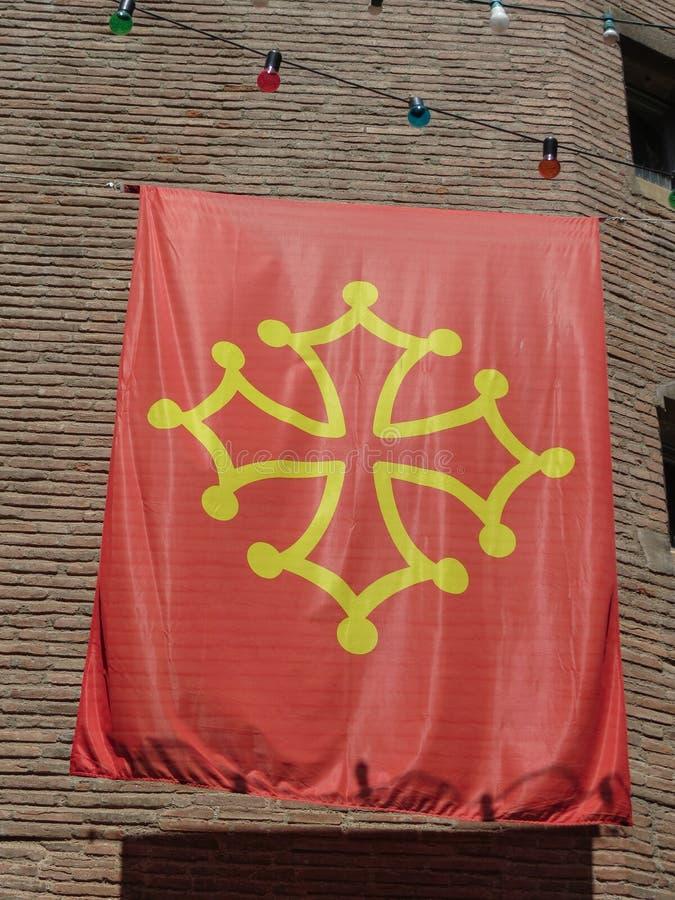 Flag of Occitanie stock image