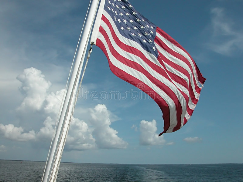 Download Flag and Ocean stock photo. Image of wonder, island, determination - 69640