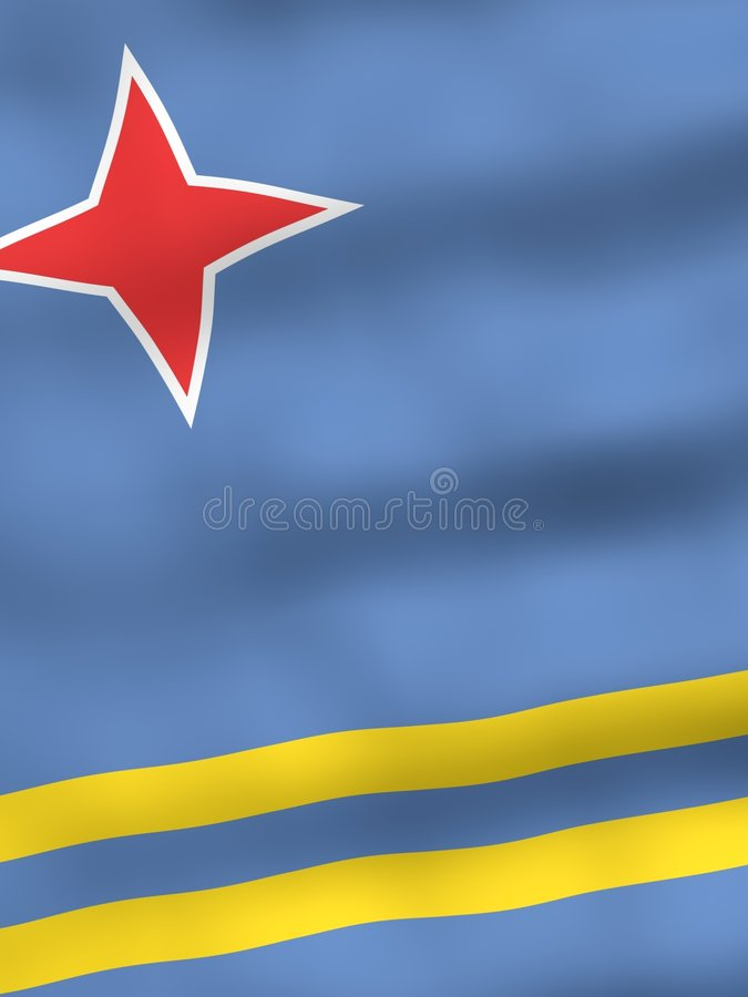 Free Flag Of Aruba Stock Image - 1132771