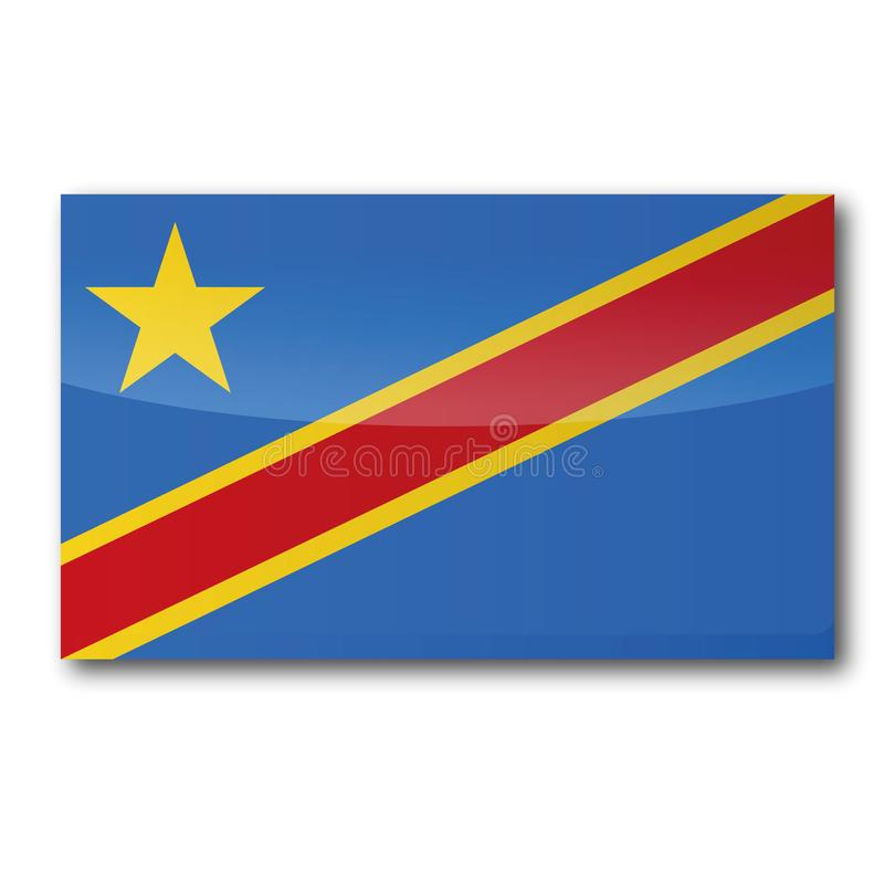 Free Flag Of The Democratic Republic Congo Royalty Free Stock Photo - 131378535