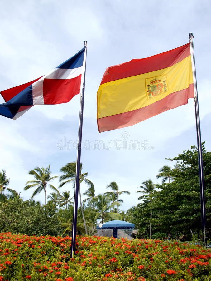 Free Flag Of The Dominican Republic Royalty Free Stock Photography - 22661317
