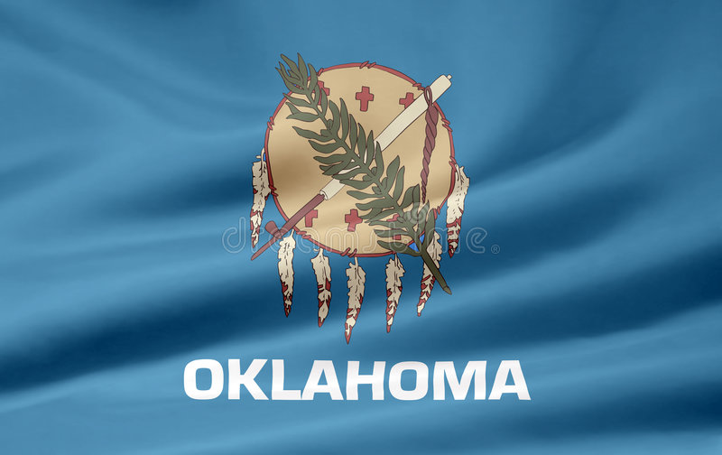 Download Flag of Oklahoma stock illustration. Illustration of nation - 5968234