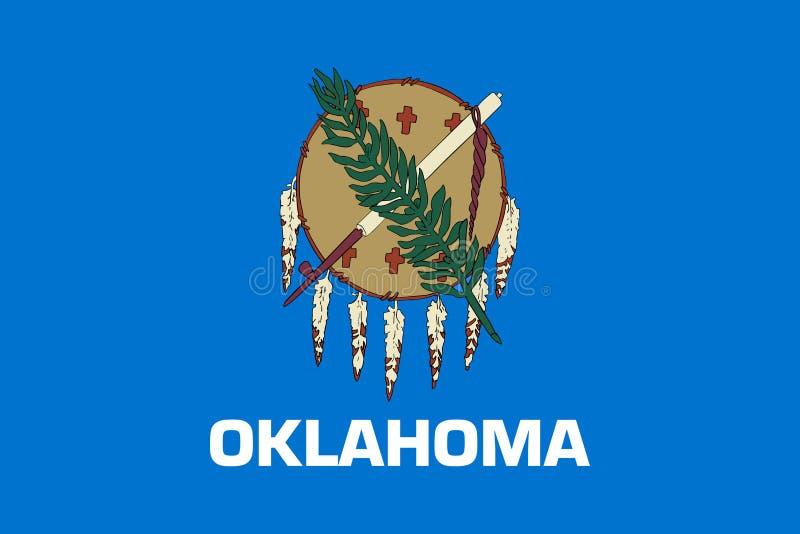 Flag of Oklahoma. Flag of the state of Oklahoma, USA royalty free illustration