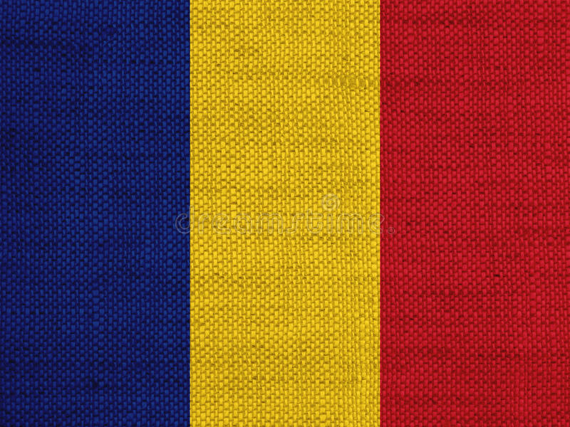 Flag on old linen stock image