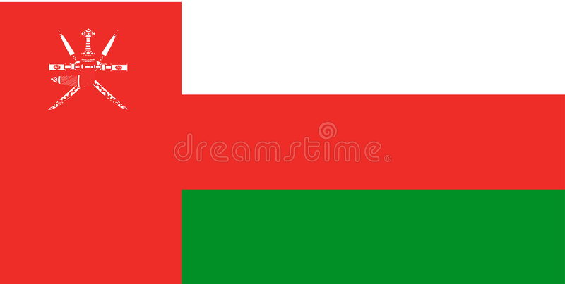 Flag of Oman. National country symbol illustration Vector illustration available for download. Click here for more vectors stock illustration
