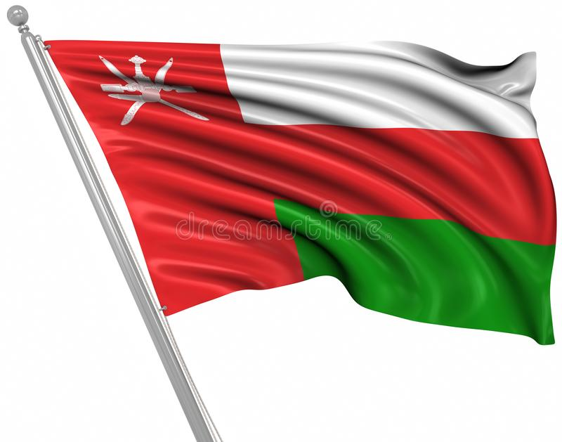 Flag of Oman. This is a computer generated and 3d rendered image vector illustration