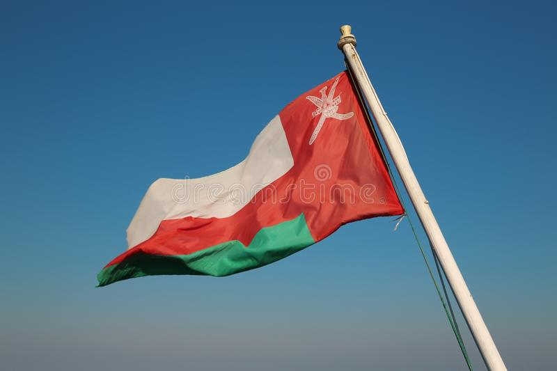 Flag of the Oman country stock image