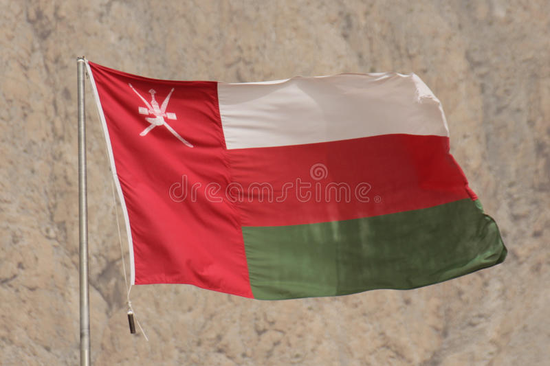 Flag of Oman stock photography