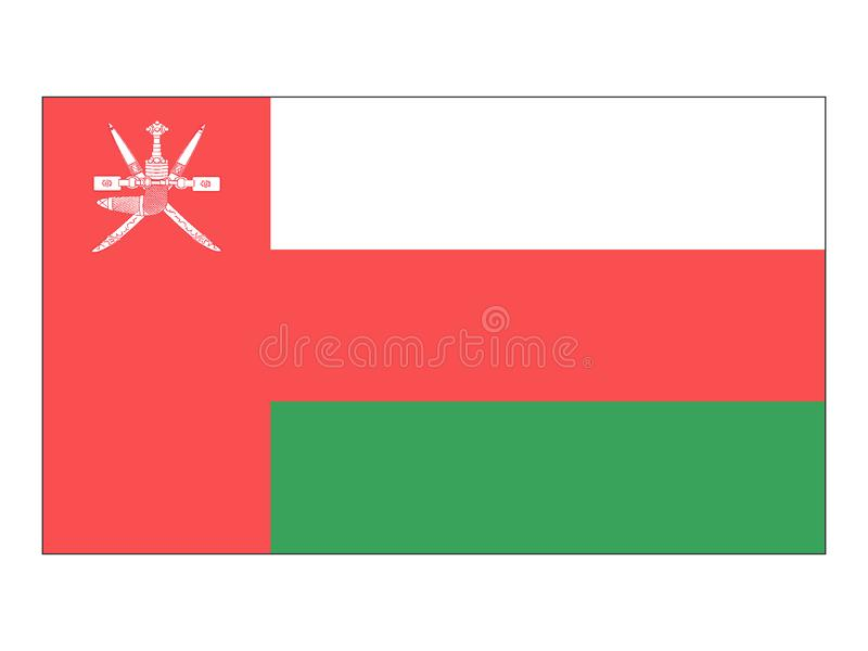 Flag of Oman. Vector illustration of the Flag of Oman royalty free illustration