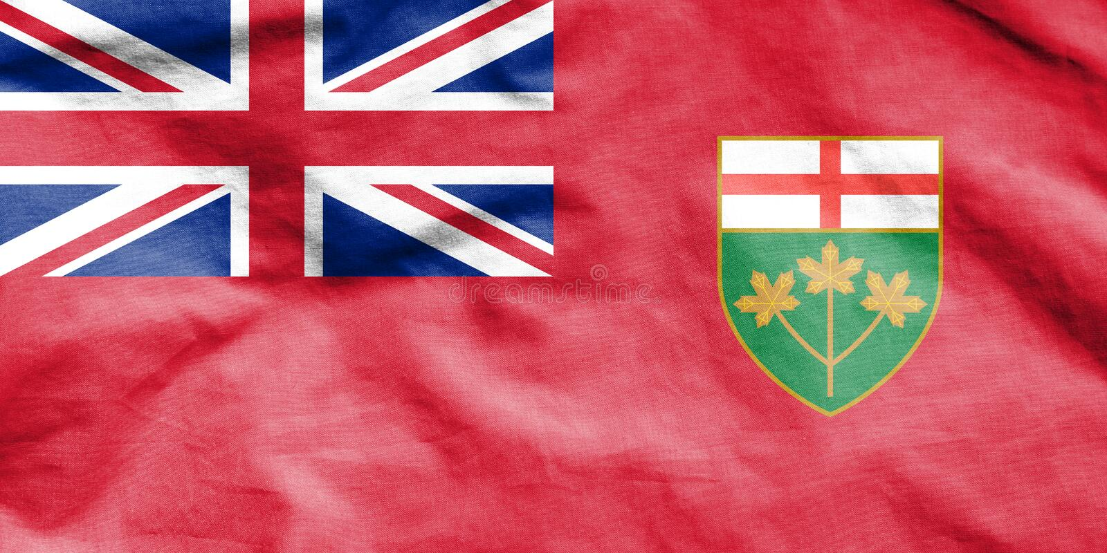 Flag of Ontario, Canada. 3d Rendered Flag of Ontario, Canada stock illustration