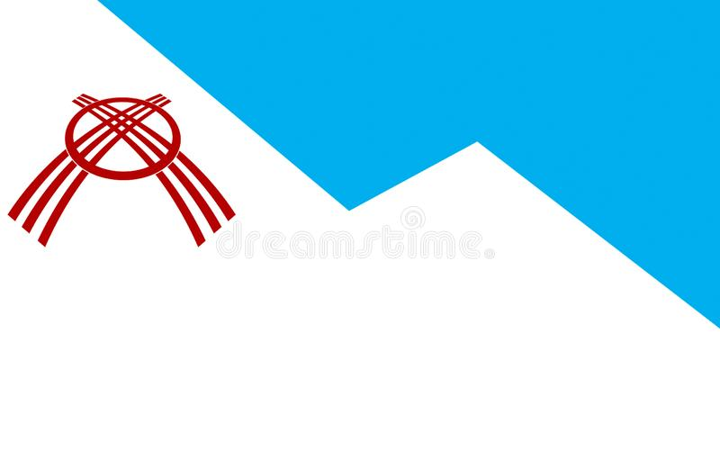 Flag of Osh, Kyrgyzstan royalty free illustration