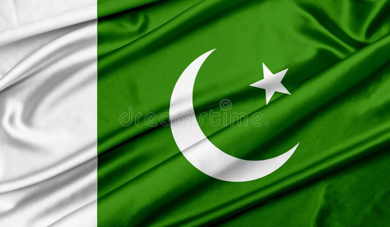 Flag of Pakistan texture background royalty free stock photography