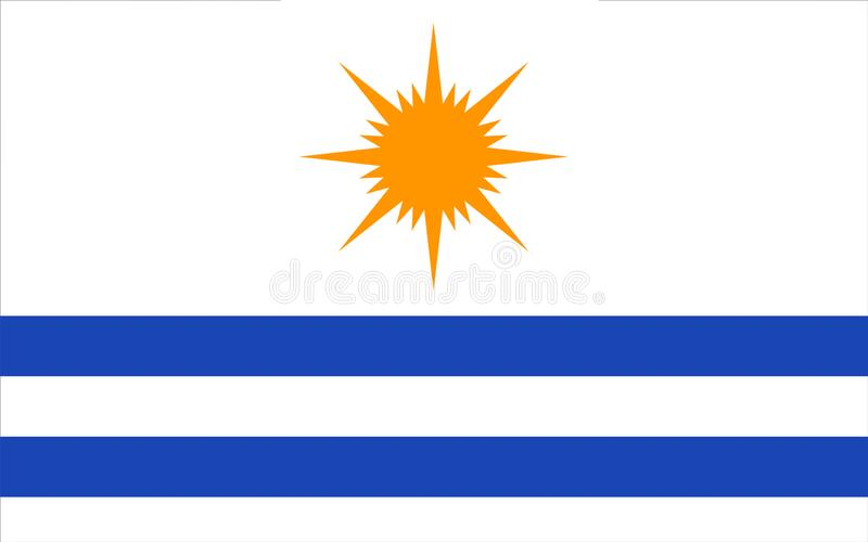 Flag of Palmas in Tocantins, Brazil. Flag of Palmas is the capital city in the state of Tocantins, Brazil. 3d illustration royalty free stock photography