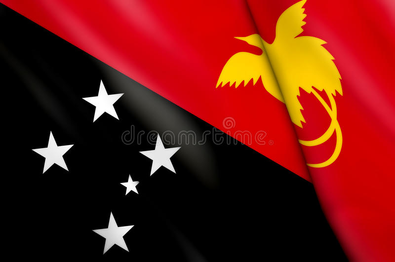 Flag of Papua New Guinea royalty free stock images