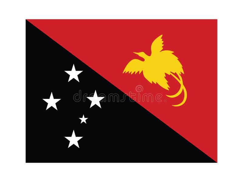 Flag of Papua New Guinea. Flat Flag of the Oceania Country of Papua New Guinea royalty free illustration