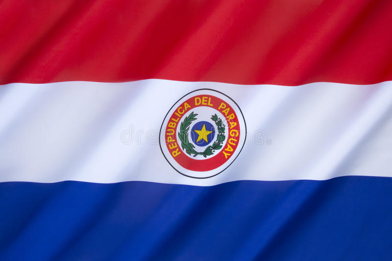 Flag of Paraguay stock image