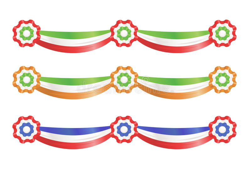 Flag party decoration ribbons vector illustration