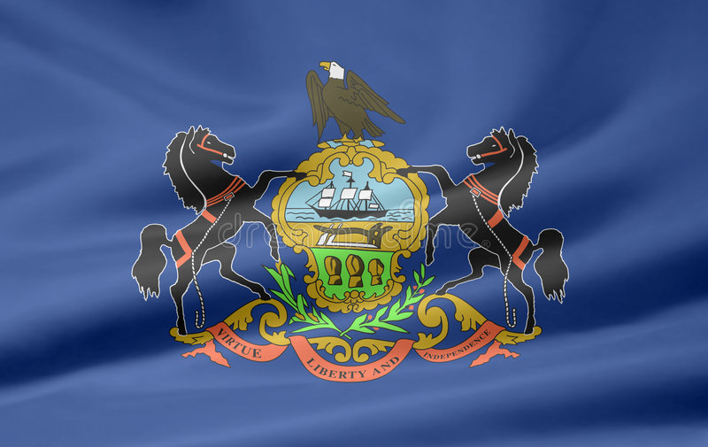 Flag of Pennsylvania royalty free illustration
