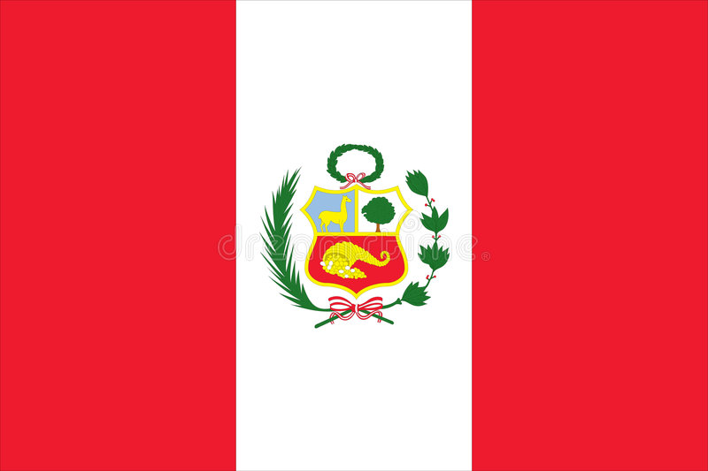 Flag of peru stock illustration