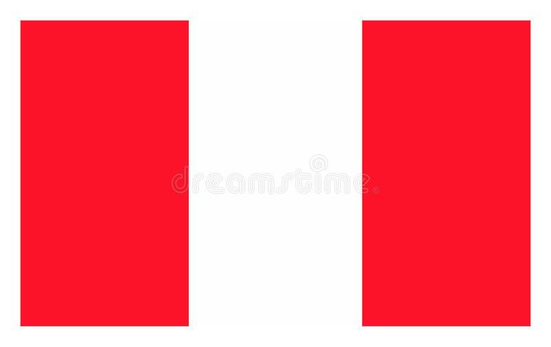 Flag of Peru. royalty free illustration
