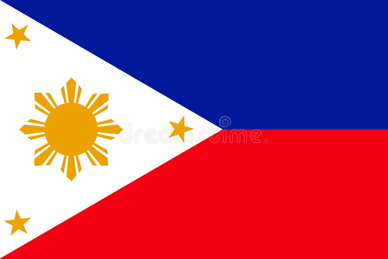Flag of Philippines stock illustration