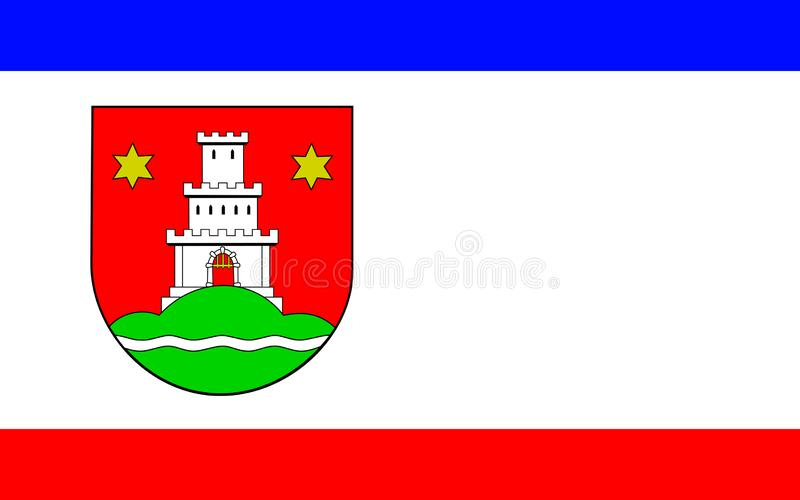 Flag of Pinneberg in Schleswig-Holstein, Germany. Flag of Pinneberg is a town in Schleswig-Holstein in Germany royalty free stock photos