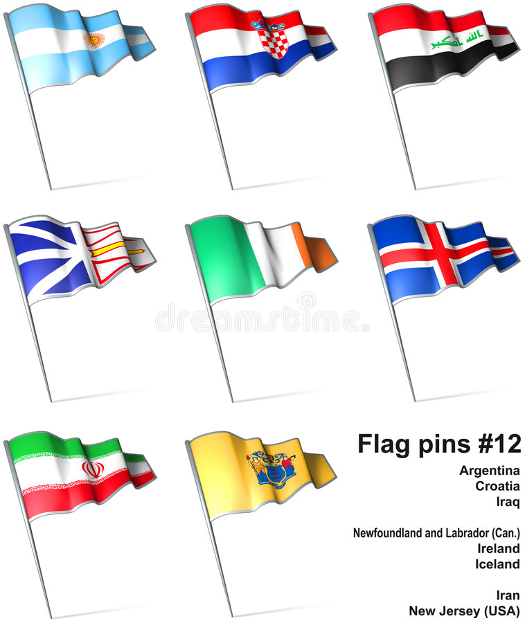 Download Flag Pins #12 Stock Photo - Image: 9250710