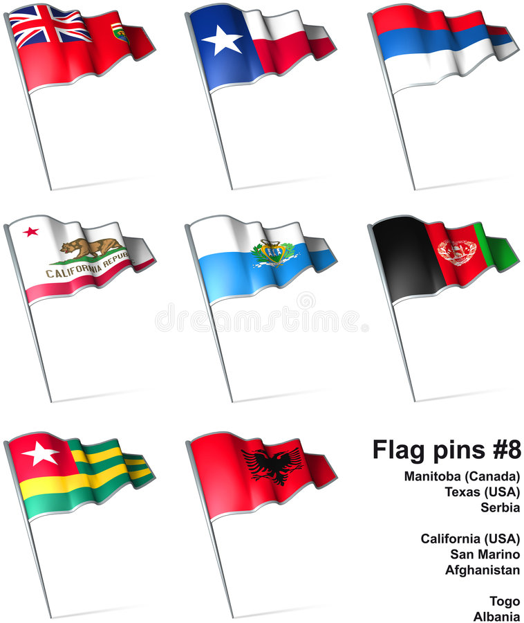 Download Flag pins #8 stock illustration. Image of needle, land - 9250871