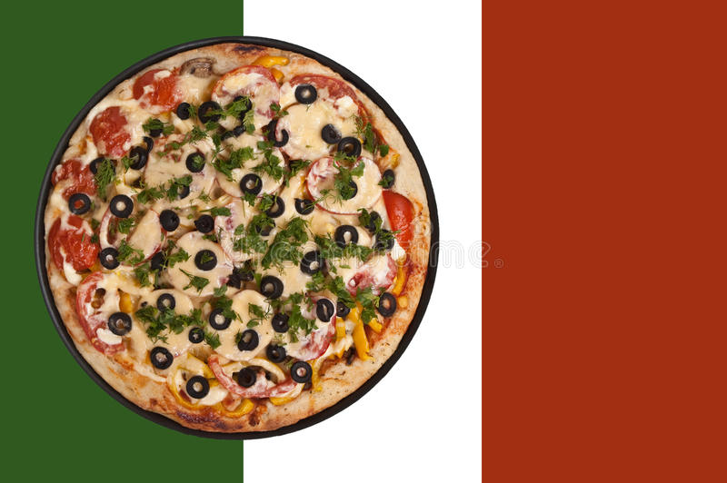 Flag pizzeria royalty free stock photography