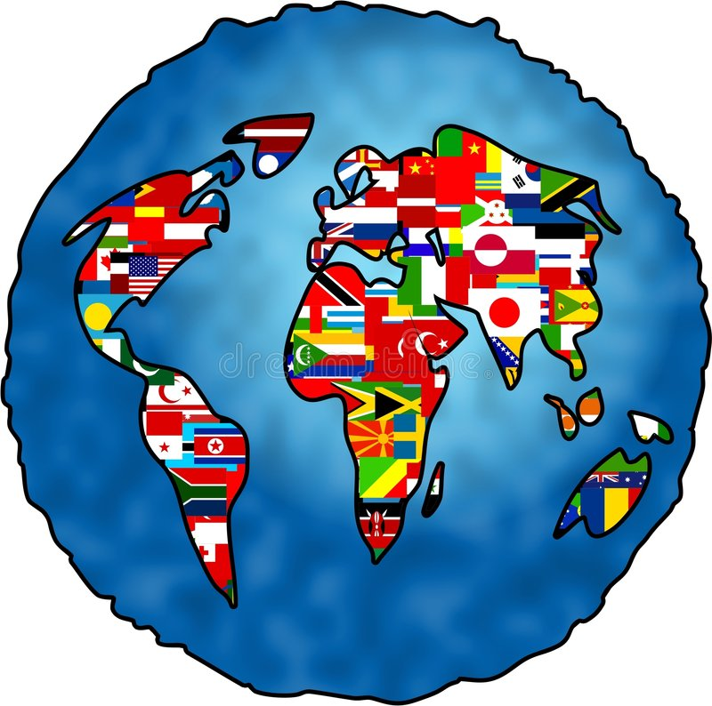 Download Flag Planet stock illustration. Illustration of maps, continents - 119034