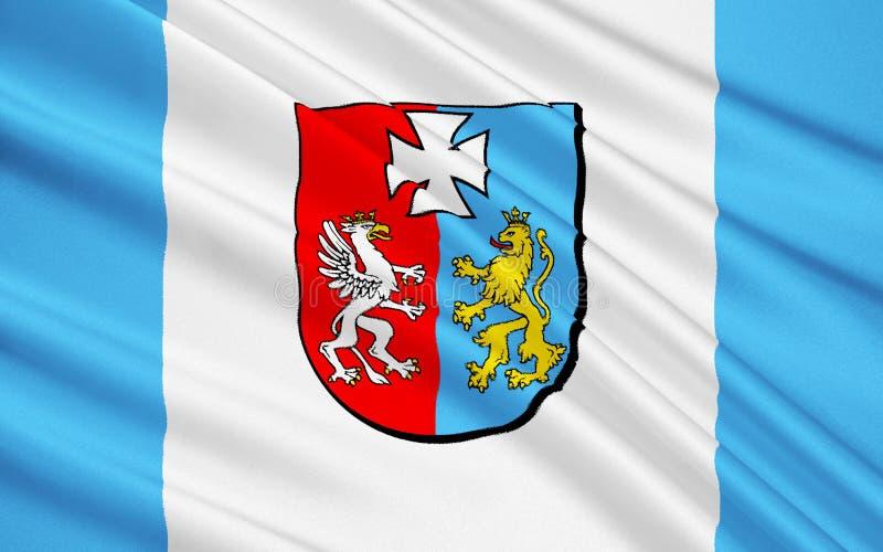 Flag of Podkarpackie Voivodeship in extreme-southeastern Poland. Flag of Podkarpackie Voivodeship or Subcarpathian Voivodeship in extreme-southeastern Poland stock photo