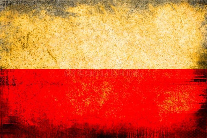 Flag of poland. Grunge background edit stock illustration
