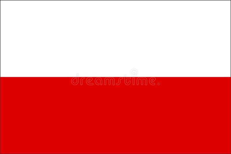 Flag of Poland. National country symbol illustration Vector illustration available for download. Click here for more vectors royalty free illustration