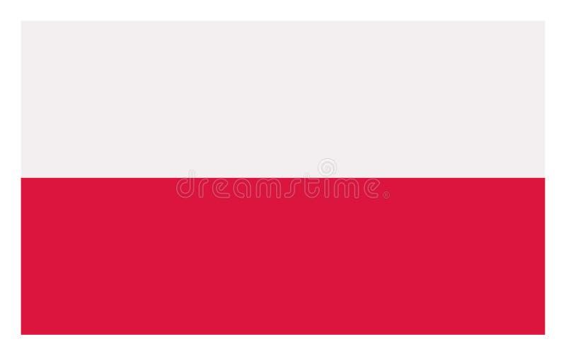 Flag of Poland. stock illustration