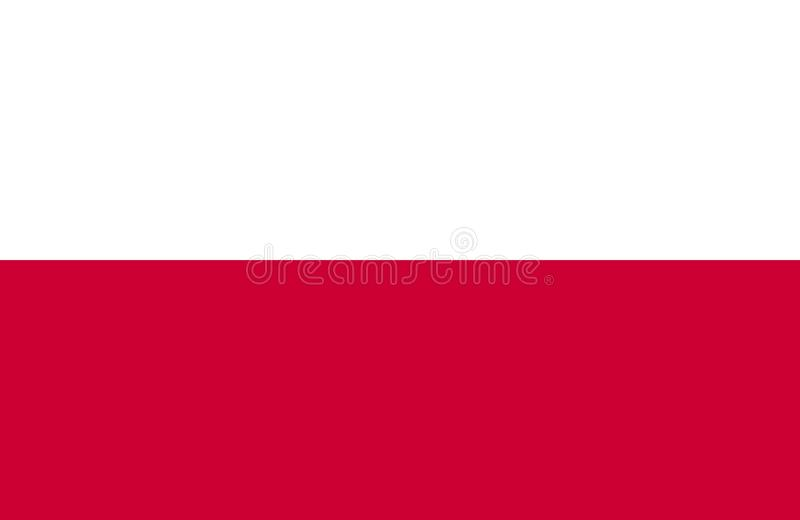 Flag of Poland. Vector illustration. World flag vector illustration