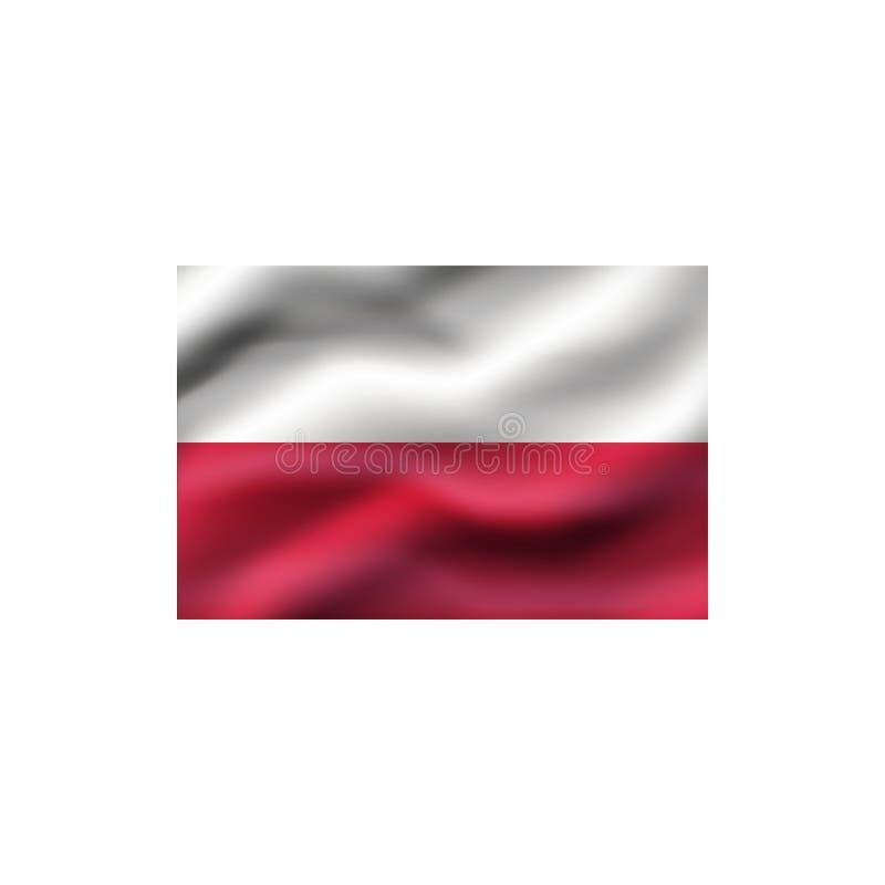 Flag of Poland. Flag of Poland on white background. Illustration stock illustration
