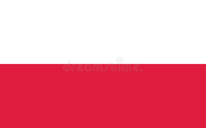 Flag of Poland. Vector illustration vector illustration