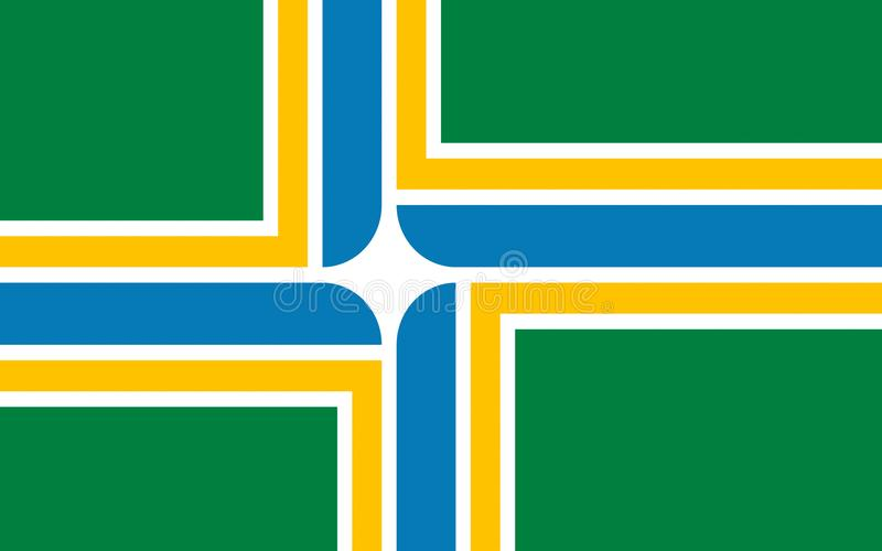 Flag of Portland in Oregon, USA royalty free stock image