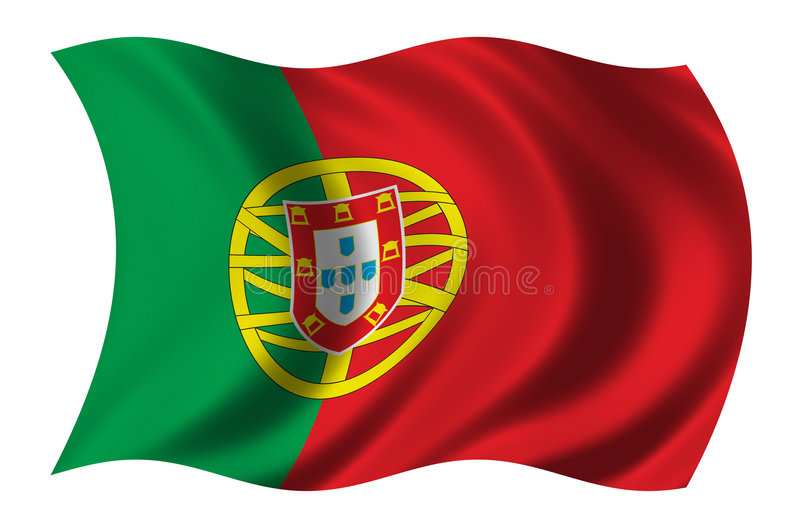 Flag of Portugal royalty free illustration