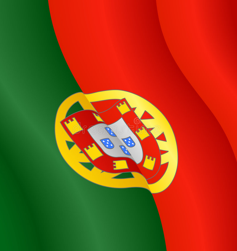 Download Flag of Portugal stock vector. Image of stripes, wave - 7346348