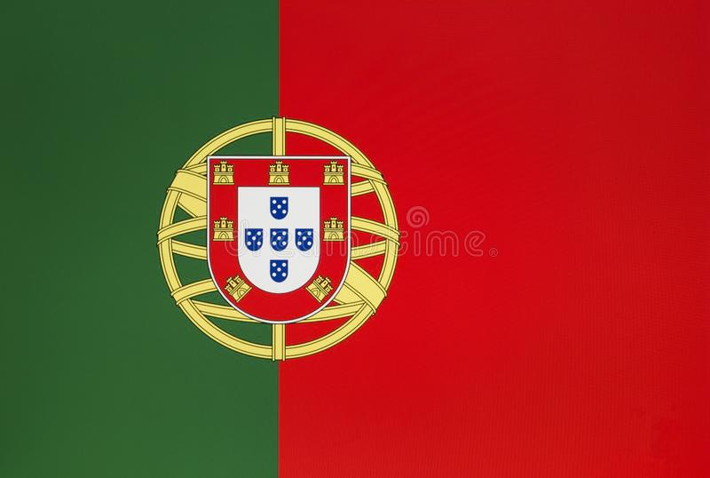 Flag of Portugal. Top view stock photography