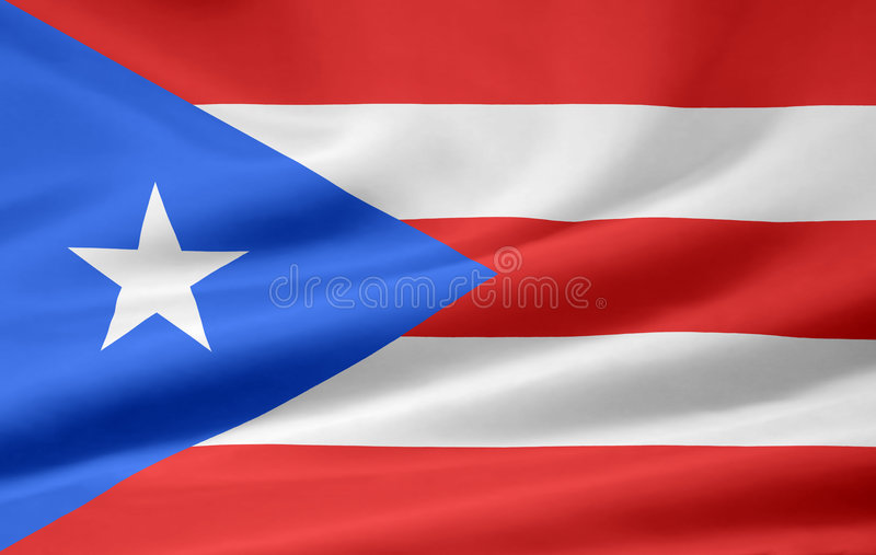 flag Puerto Rico stock illustrationer