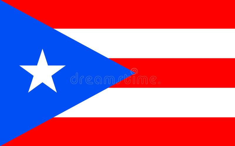 Flag of Puerto Rico, USA. Flag of Puerto Rico officially the Commonwealth of Puerto Rico United States territory located in the northeastern Caribbean stock photos