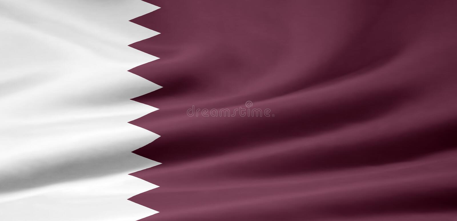 Flag of Qatar royalty free stock images