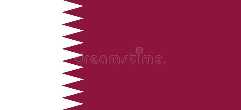 Flag of Qatar royalty free illustration
