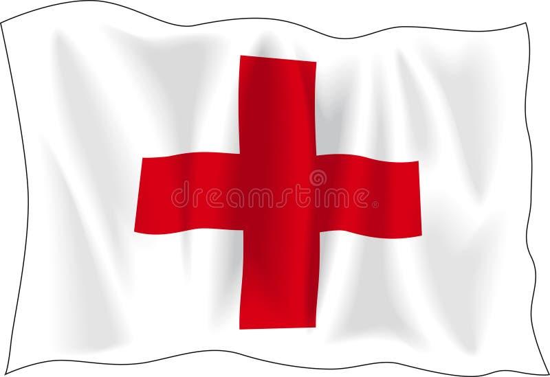 Flag of Red Cross vector illustration
